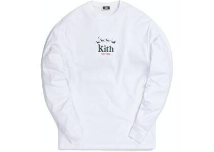 Kith Sleigh Serif L/S Tee Whiteの写真