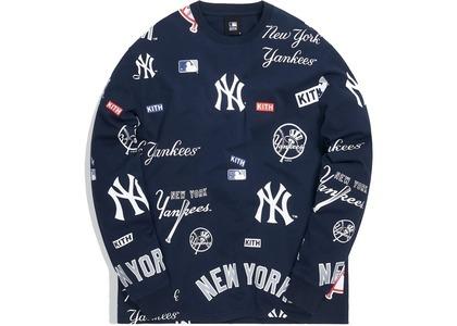 Kith For Major League Baseball New York Yankees All Over L/S Tee Navyの写真