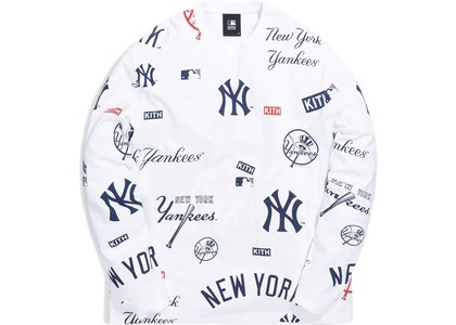 Kith For Major League Baseball New York Yankees All Over L/S Tee Whiteの写真