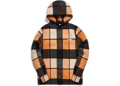 Kith Plaid Wool Ginza Hooded Shirt Orangeの写真
