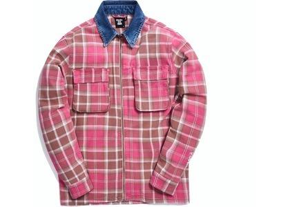 Kith x Ksubi Kace Zip Shirt Bleached Plaid の写真
