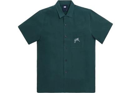 Kith Camp Collar Silk Cotton Shirt Scarab の写真
