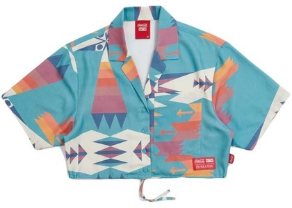 Kith Women x Coca-Cola Cropped Camp Collar Teal/Multi の写真