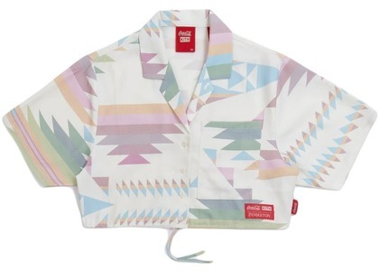 Kith Women x Coca-Cola Cropped Camp Collar Ivory/Multi の写真