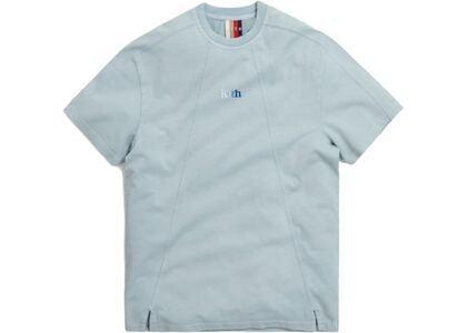 Kith Garment Dyed Paneled Tee Light Indigo Blue の写真