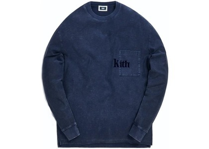 Kith Quinn Crystal Washed L/S Tee Obsidian/Navy の写真