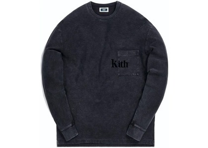 Kith Quinn Crystal Washed L/S Tee Black の写真