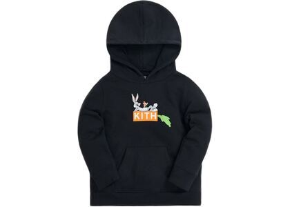 Kith Kids x Looney Tunes Bugs Classic Logo Hoodie Black の写真
