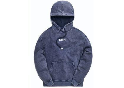 Kith Williams III Crystal Wash Fleece Hoodie Obsidian/Navy の写真