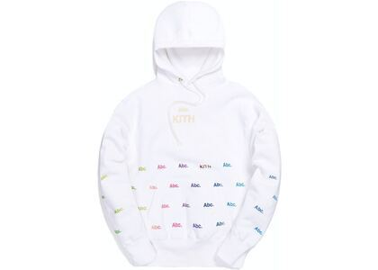 Kith x Advisory Board Crystals Holograph Hoodie White の写真