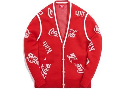 Kith x Coca-Cola x Mitchell & Ness Coke Logo Cardigan Red の写真