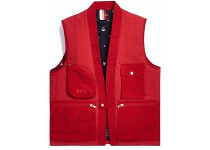 Kith Nylon Quilted Tactical Vest Red の写真