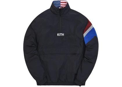 Kith Retro Quarter Zip Track Jacket Black の写真
