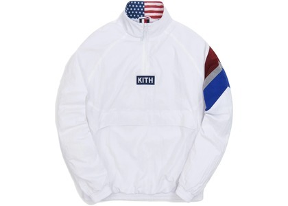 Kith Retro Quarter Zip Track Jacket White の写真
