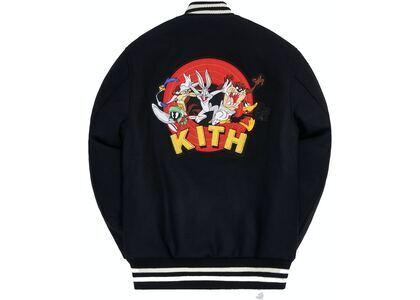 Kith x Looney Tunes Golden Bear Varsity Jacket Black の写真