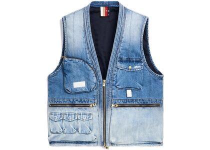 Kith Denim Quilted Tactical Vest Light Blue の写真