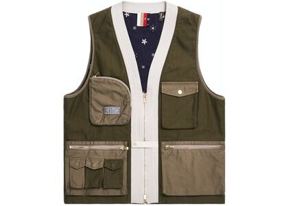 Kith Military Sateen Quilted Tactical Vest Olive の写真