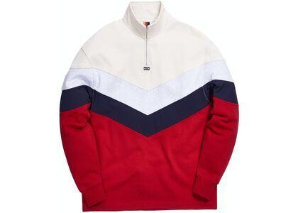 Kith Track Line Quarter-Zip Pullover Red/Multi の写真