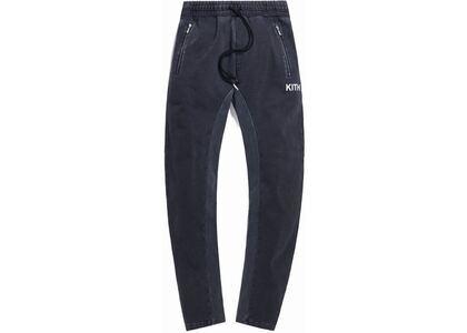 Kith Bleecker Crystal Wash Fleece Sweatpant Black の写真
