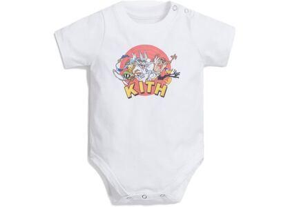 Kith Kids x Looney Tunes Baby Onesie White の写真