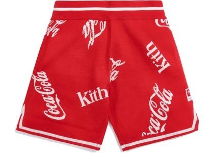 Kith x Coca-Cola x Mitchell & Ness Coke Logo Short Red の写真
