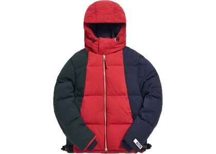 Kith Colorblocked Puffer Jacket Scarlet/Multiの写真