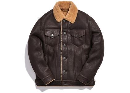 Kith Amherst Shearling Trucker Jacket (FW19) Dark Brownの写真