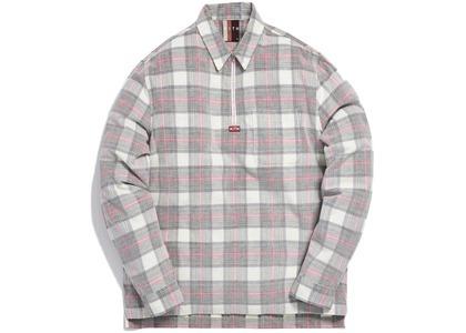 Kith Quarter Zip Collared Shirt White/Redの写真