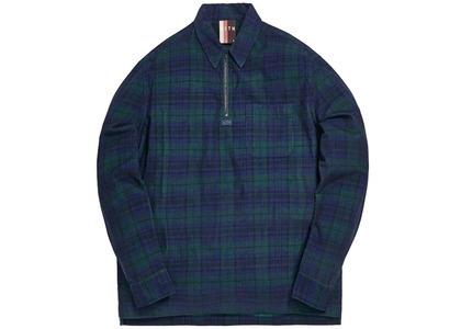 Kith Quarter Zip Collared Shirt Navy/Forestの写真
