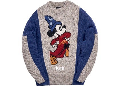 Kith x Disney 40s Ryan Cable Knit Sweater Navyの写真