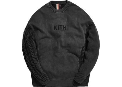 Kith Combo Knit Crewneck Blackの写真