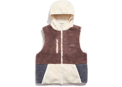 Kith Sherpa Vest Hoodie Mauveの写真