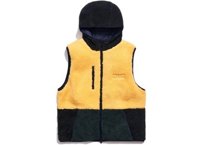 Kith Sherpa Vest Hoodie Solar Yellowの写真