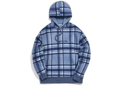 Kith Large Wool Check Hoodie Light Blueの写真
