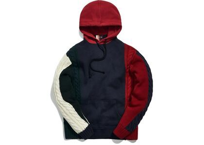 Kith Colorblock Adam Combo Knit Hoodie Pullover Navy/Multiの写真