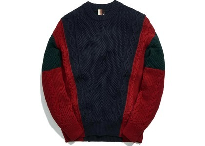 Kith Ryan Cable Knit Sweater Navy/Multiの写真