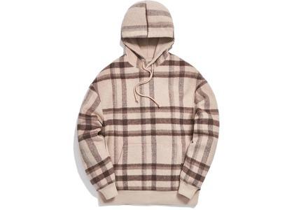 Kith Large Wool Check Williams II Hoodie Beigeの写真