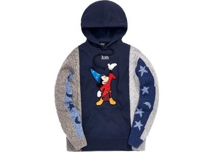 Kith x Disney Adam Combo Knit Hoodie Red/Navyの写真