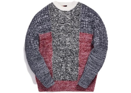 Kith Luca Cable Knit Sweater Navy/Multiの写真