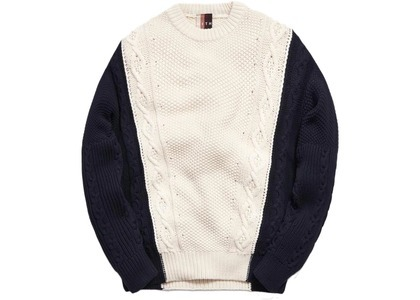 Kith Ryan Cable Knit Sweater Turtledoveの写真