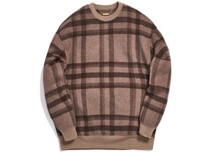 Kith Large Wool Check Crewneck Dark Brownの写真