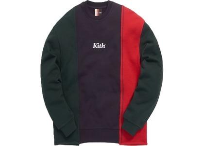 Kith Reverse Paneled Crewneck Dsrk Green/Multiの写真