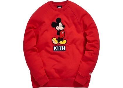 Kith x Disney 90s Mickey Classic Logo Crewneck Redの写真
