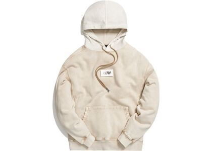 Kith Color Blocked Crystal Wash Williams Hoodie White Pepperの写真