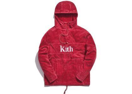 Kith Corduroy Double Pocket Hoodie Redの写真