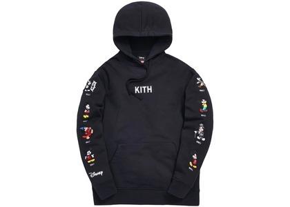 Kith x Disney Mickey Sleeve Patches Hoodie Blackの写真