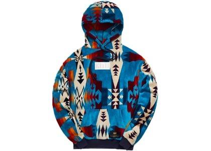 Kith x Pendleton Terry Williams Hoodie Turquoise/Multiの写真