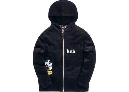 Kith x Disney Carlton Corduroy Zip Hoodie Blackの写真