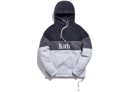 Kith Sherpa Double Pocket Hoodie Pearl Blueの写真
