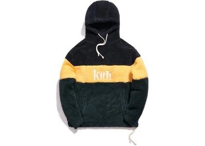 Kith Sherpa Double Pocket Hoodie Solar Yellowの写真